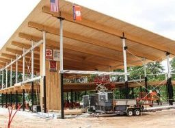Clemson Celebrates Near-Completion of Timber Installation on Innovative Project at Outdoor Center